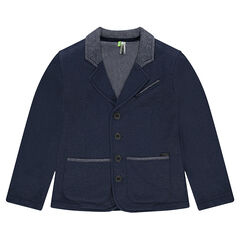 Junior - Pique fleece blazer with pockets