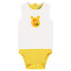 2-in-1 effect jersey bodysuit with a ©Disney Winnie the Pooh print