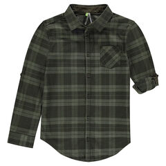 Junior - Plaid Shirt with Foldable Sleeve