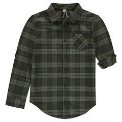 Junior - Plaid Shirt with Foldable Sleeve