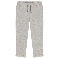 Fleece sweatpants with an elastic waistband