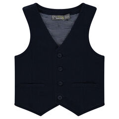 Heavy jersey server vest lined with striped jersey