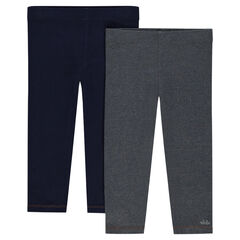 Set of 2 plain-colored leggings