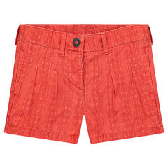 Cotton shorts with box pleats