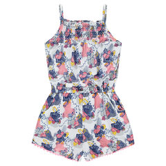 Romper with allover printed flowers
