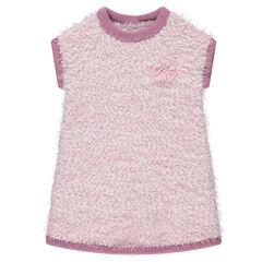 Sleeveless popcorn knit dress