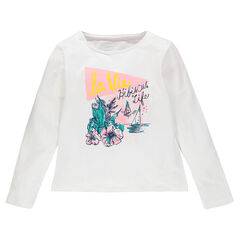 Junior - Long-sleeved T-shirt with sparkly decorative print