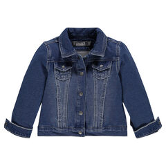 Junior - Denim-effect fleece jacket
