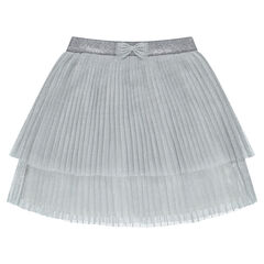 Pleated skirt in sparkly tulle