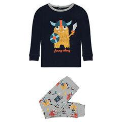 2-piece jersey pajamas with printed vikings