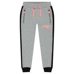 Sweatpants in light fleece with 2 zipped pockets