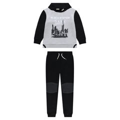 Junior - Two-tone fleece sweatsuit with landscape print