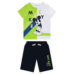 Bermuda short and short sleeve t-shirt set with Mickey Print