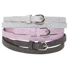Set of 3 sparkly belts