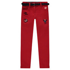 Twill pants with Disney Minnie Mouse embroidery