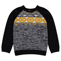 Junior - Knit sweater with jacquard motif