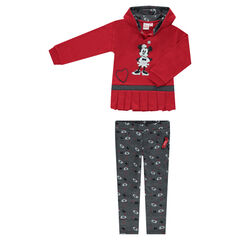 Fleece sweatsuit with a pleated sweatshirt and a ©Disney Minnie Mouse print