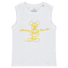 Plain-colored jersey tank top with ©Disney Mickey Mouse print