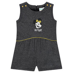 Flared fleece dress outfit with Disney Minnie Mouse embroidery