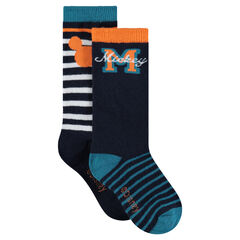 Set of 2 pairs of assorted socks with Disney Mickey Mouse motif