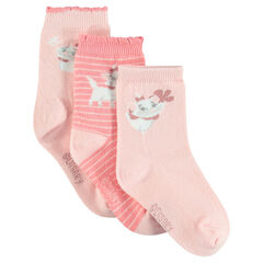 Set of 3 pairs of socks with Disney Marie motif