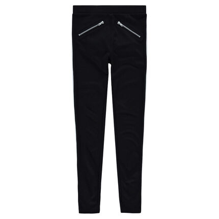 Junior - Milano jeggings with 2 metal zippers