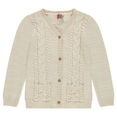 Junior - Knit cardigan with cable stitching