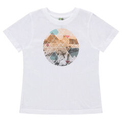 Short sleeve t-shirt in jersey with graphic print