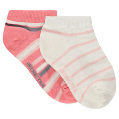 Junior - Set of 2 pairs of striped ankle socks