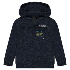 Junior - Light fleece sweatshirt with a textured message