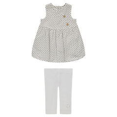 Organic cotton dress and leggings