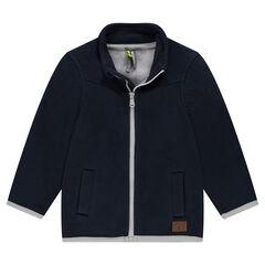 Microfleece jacket with textured motif