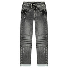 Junior - Denim-like jeans with patches at the knees
