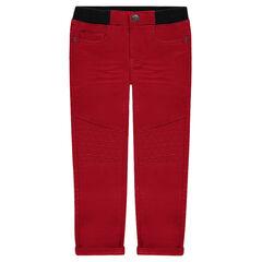Imitation fleece canvas pants with an elastic waistband