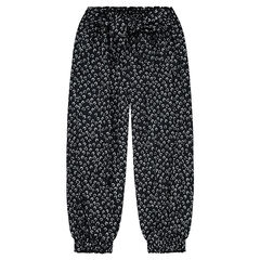 Fluid pants with an allover flowery print
