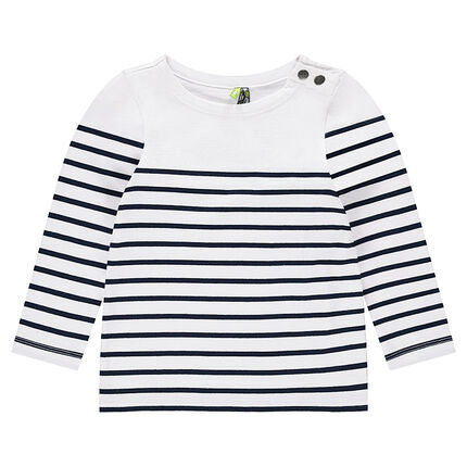 Jersey sailor top with snaps at neck