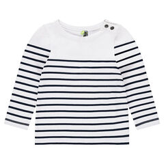 Junior - Jersey tee-shirt with allover stripes