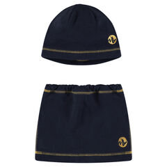 Cap and snood set in microfleece