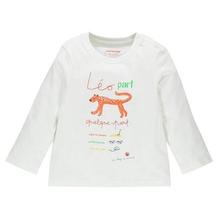 Long sleeve jersey T-shirt with original animals prints