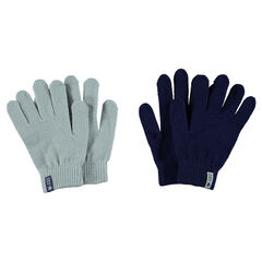 Set of 2 pairs of magic knit gloves
