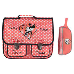 Disney Minnie Mouse schoolbag and pencil case