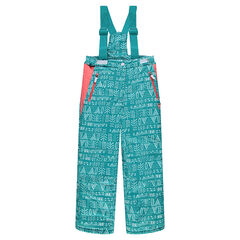 Junior - Printed ski pants with removable straps