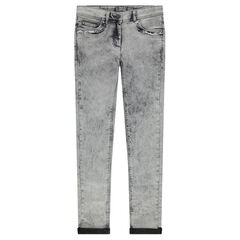 Junior - Snow wash-effect slim fit jeans