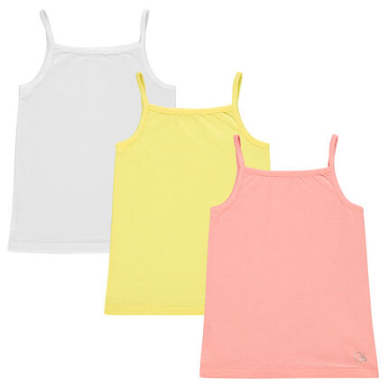 Junior - Set of 3 plain-colored tank tops