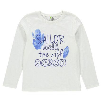 Junior - Long sleeve T-shirt with cactus print.