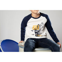Junior - Two-tone tee-shirt with raglan sleeves and a print
