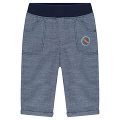 Cotton pants with printed logo