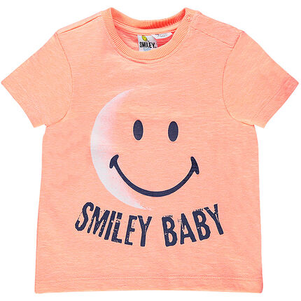 Short-sleeved t-shirt featuring ©Smiley print