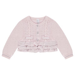 Frilled knit cardigan