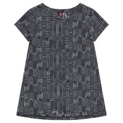 Junior - Short-sleeved tee-shirt with geometric print
